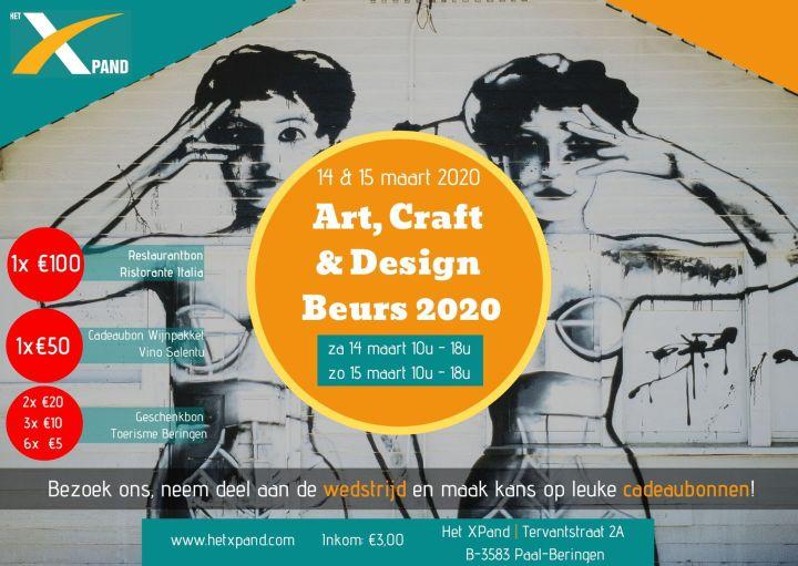 Afiche wedstrijd Art Craft & Design 2020